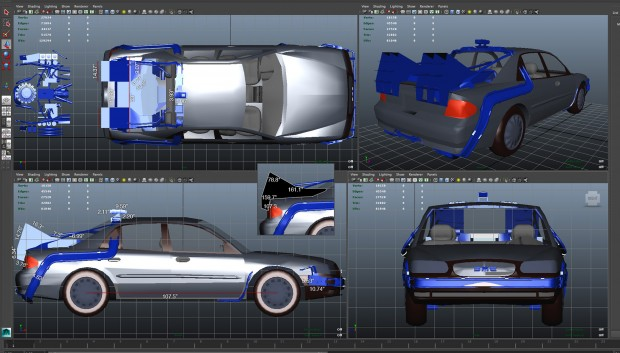 """Projeto de """"DeLorean DMC-12"""" do usuário justy (The RPF)"""